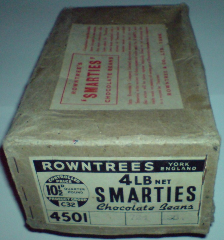 160g Smarties Boxes Smarties Box Design