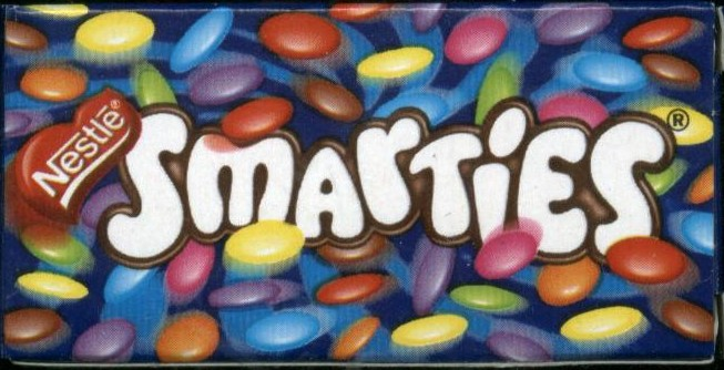 Smarties from France Smarties Box Design